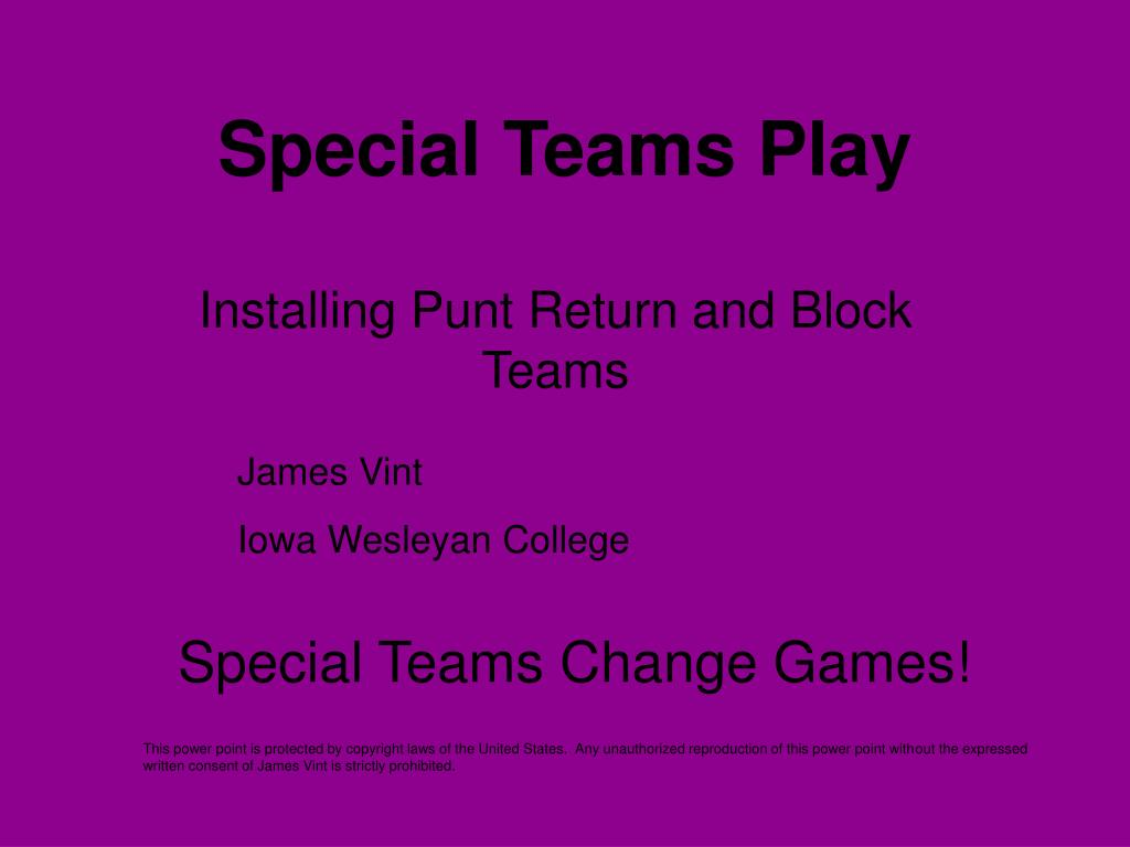 special teams play l.
