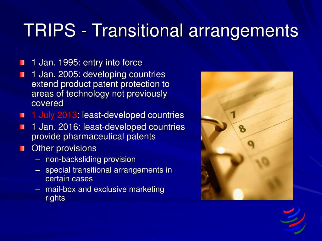 TRIPS - Transitional arrangements