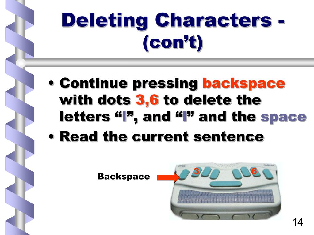 Deleting Characters -