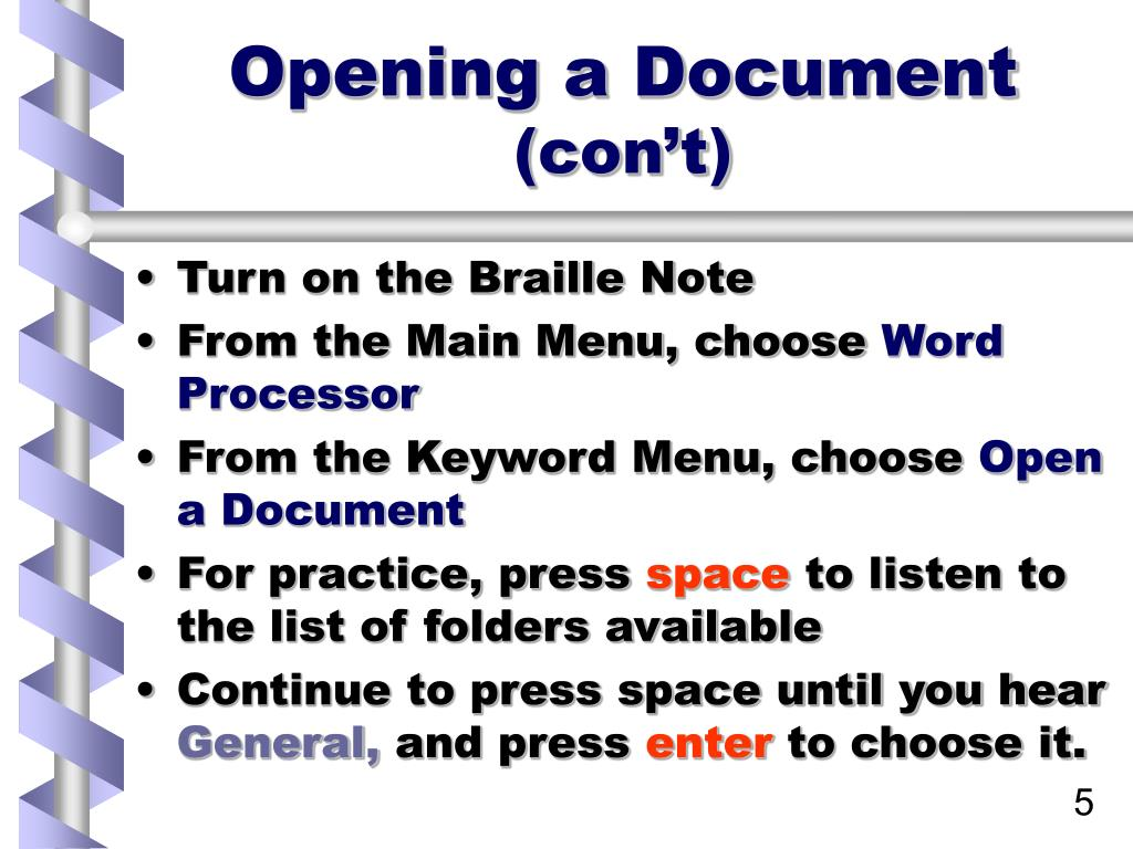 Opening a Document
