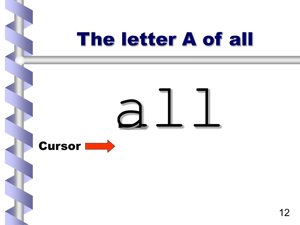 The letter A of all