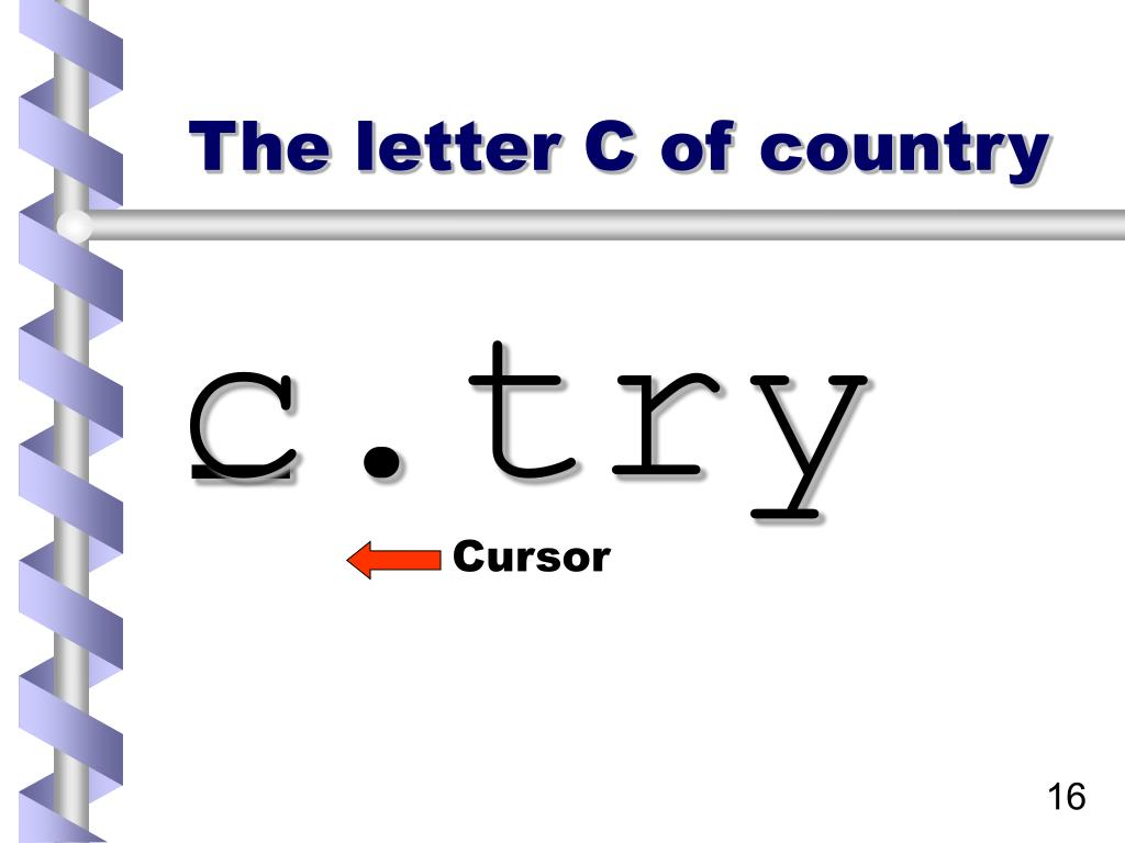 The letter C of country