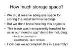 how much storage space