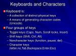 keyboards and characters