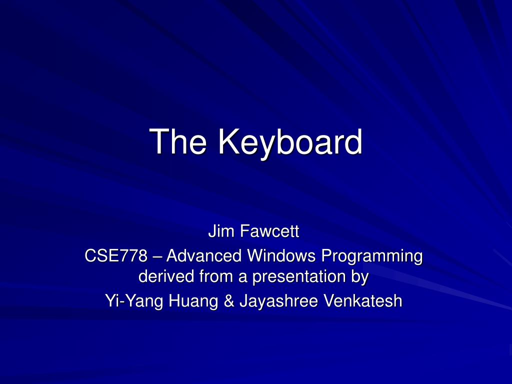 the keyboard l.