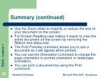 summary continued25