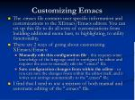 customizing emacs