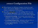 emacs configuration file