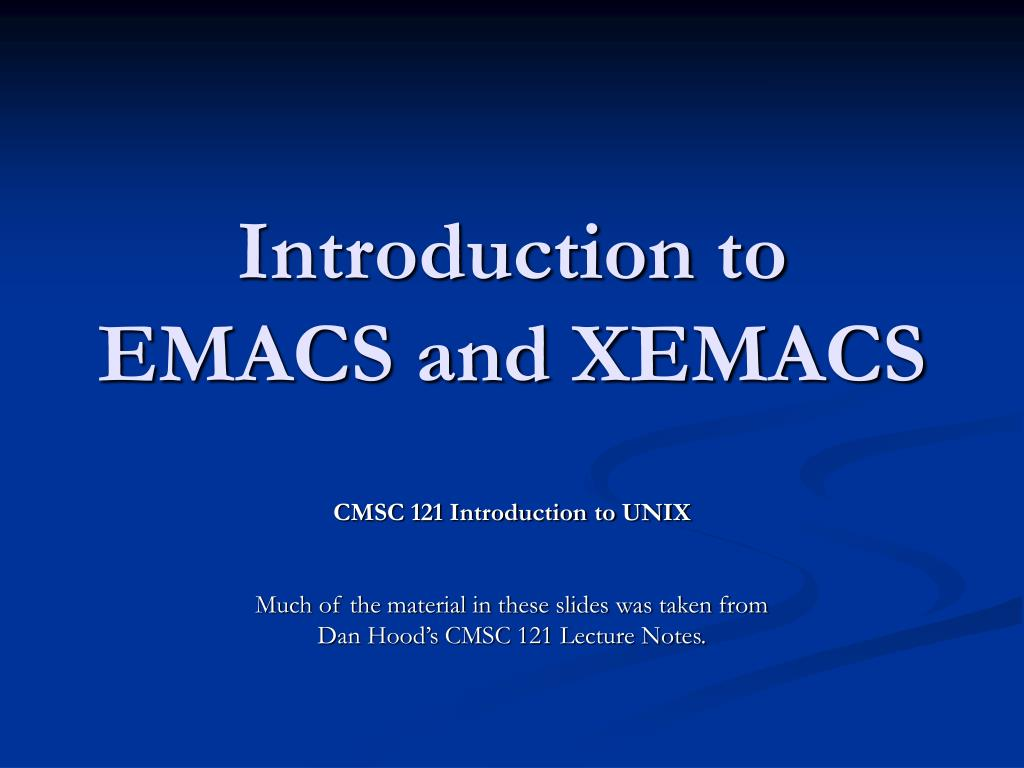 introduction to emacs and xemacs l.