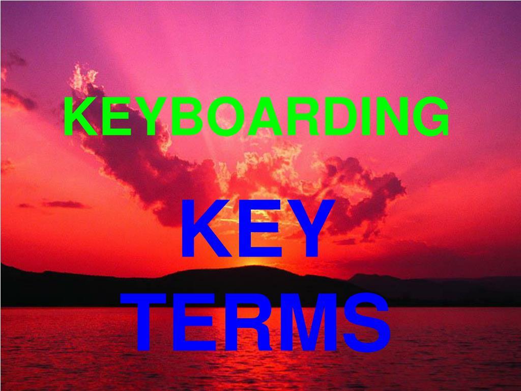 keyboarding l.
