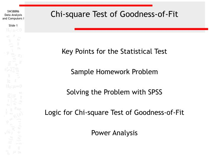 chi square test of goodness of fit n.