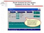 power analysis for chi square goodness of fit test 10