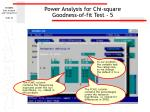 power analysis for chi square goodness of fit test 5