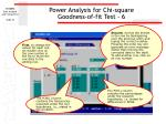 power analysis for chi square goodness of fit test 6