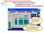 power analysis for chi square goodness of fit test 7