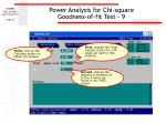 power analysis for chi square goodness of fit test 9