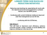longer term case backlog reduction initiatives