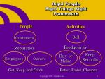 right people right things right framework