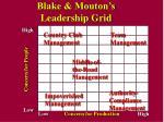 blake mouton s leadership grid