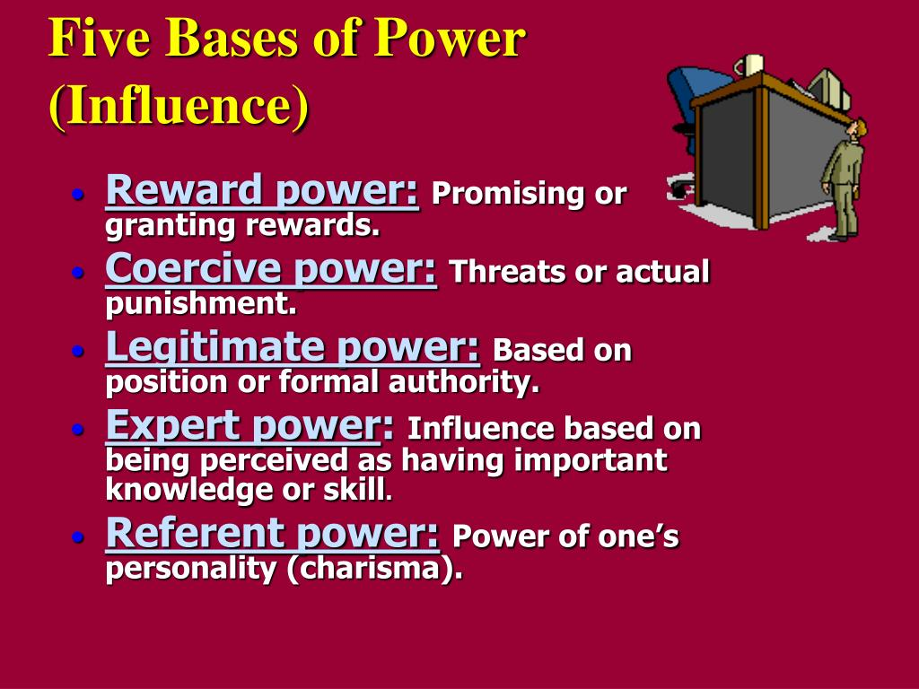 five bases of power influence l.