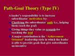 path goal theory type iv