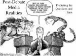 post debate media realities