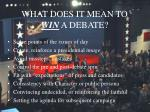 what does it mean to win a debate
