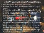 what voters think about political debates
