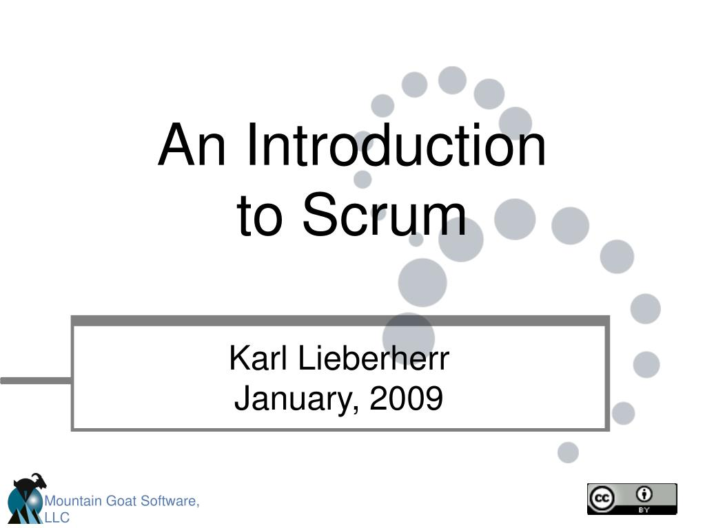 an introduction to scrum l.