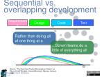 sequential vs overlapping development