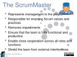 the scrummaster