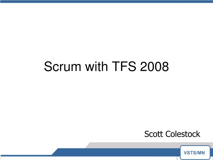 scrum with tfs 2008 n.