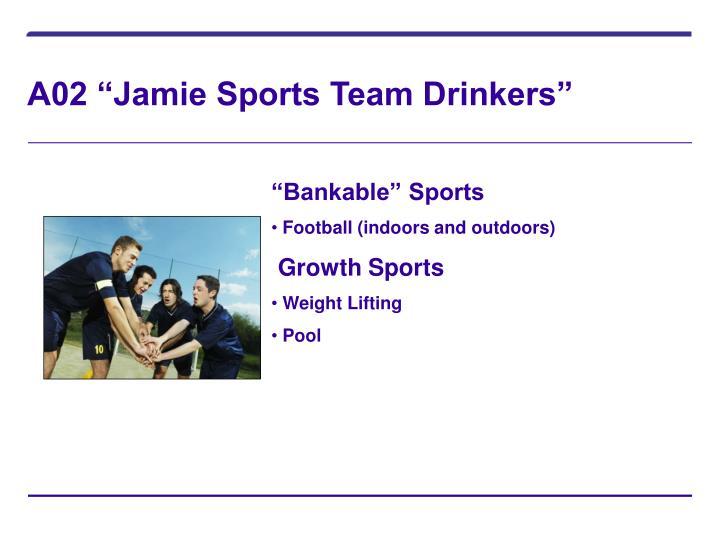 "A02 ""Jamie Sports Team Drinkers"""