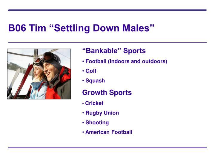 "B06 Tim ""Settling Down Males"""