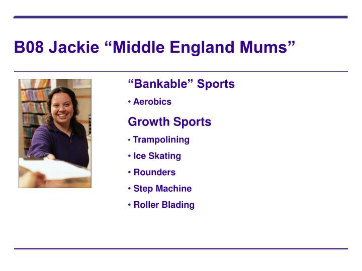 "B08 Jackie ""Middle England Mums"""