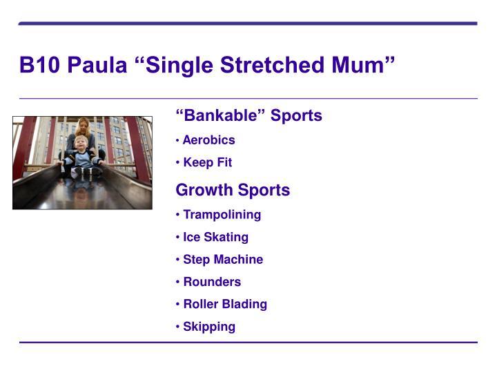 """B10 Paula """"Single Stretched Mum"""""""