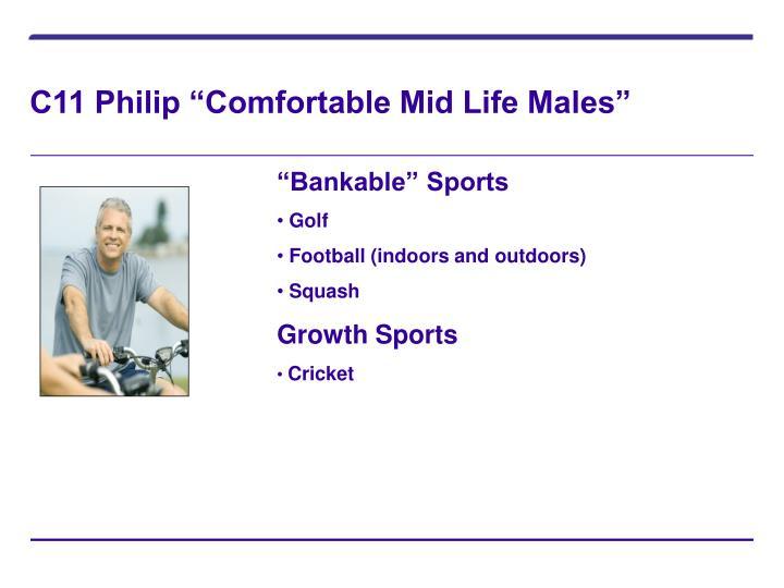 "C11 Philip ""Comfortable Mid Life Males"""