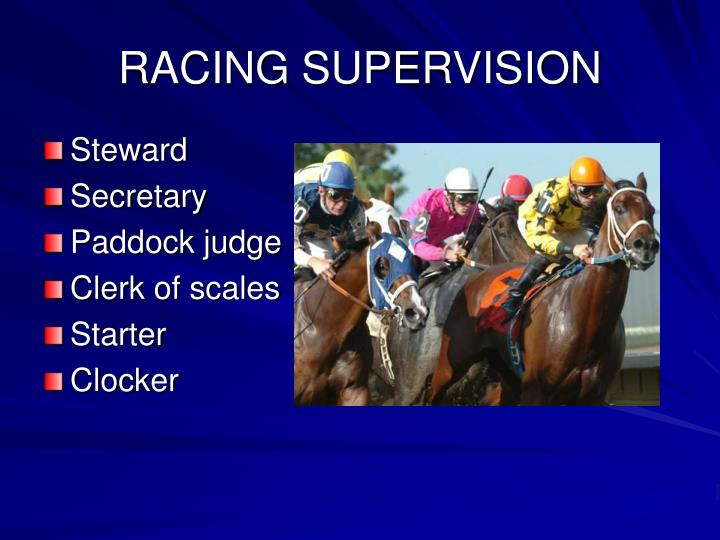 RACING SUPERVISION