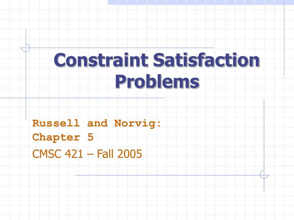 constraint satisfaction problems l.