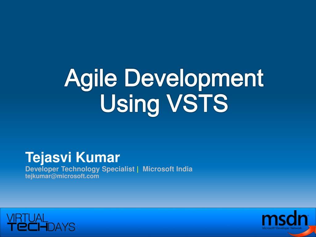 agile development using vsts l.