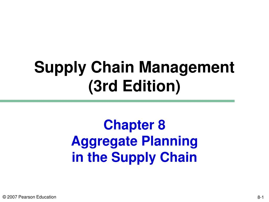 chapter 8 aggregate planning in the supply chain l.