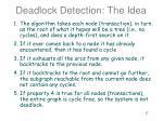 deadlock detection the idea