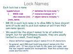 lock names