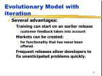 evolutionary model with iteration1