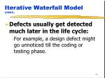iterative waterfall model cont