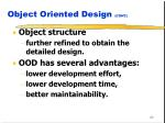object oriented design cont