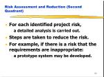 risk assessment and reduction second quadrant