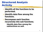 structured analysis activity