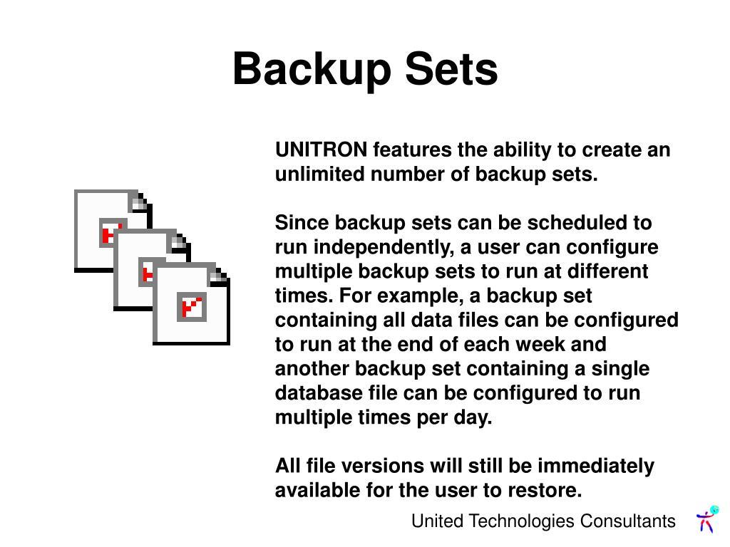 Backup Sets