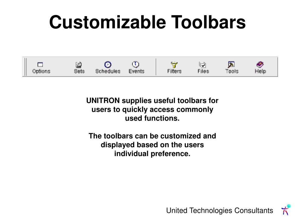 Customizable Toolbars